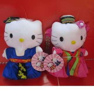 Hello Kitty X McDonald's 公仔1對 (韓服) (有瑕疵)
