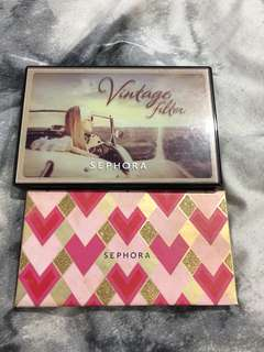 Two eyeshadow pallets