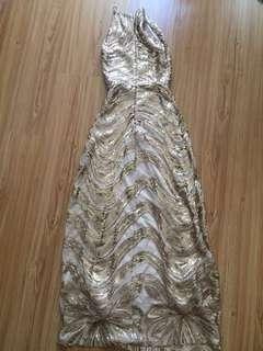 Gold Dinner Dress
