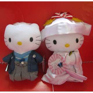 Hello Kitty X McDonald's 公仔1對 (和服)
