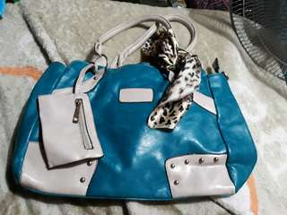 Large Green leatherrette bag