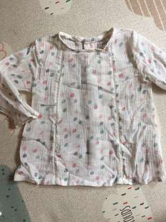 Baby girl Cotton blouse