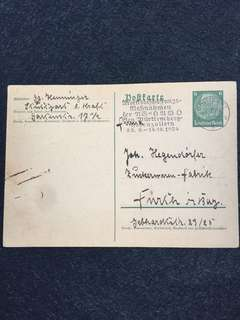 Germany Third Reich 1934 Postcard Used