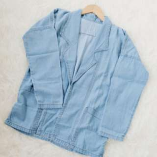 OUTER DENIM BLAZER