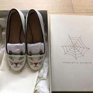 Charlotte Olympia glitter flats 閃粉貓頭平底鞋