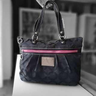 Authentic Coach Poppy Tote Bag Black