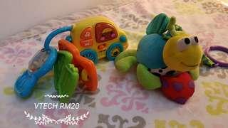 Fisher Price, VTECH, Melissa & Doug, ELC baby toys