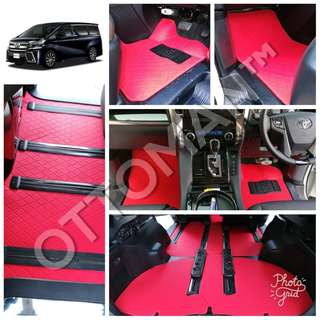 OTTOMAN PU LEATHER CAR CARPET FOR TOYOTA VELLFIRE OWNER