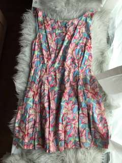 Authentic Lucy in disguise blue pink floral dress