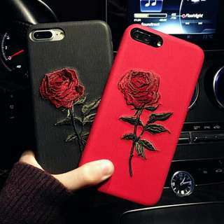 Flower Embroidered Case