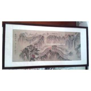 长城秋色 - 向新元 Vintage Great Wall of China Painting