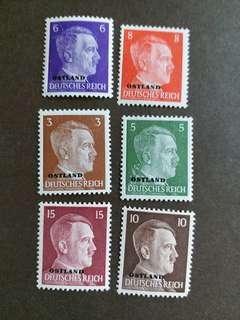 1941年佔領東方波羅的诲三國希特勒郵票 F