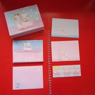 Hello Kitty 信紙信封1套