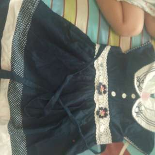 Dress 2-3 thn + overall jeans