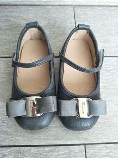 女童銀色蝴蝶結 娃娃鞋 韓