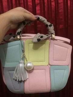 Pink Squares Bag