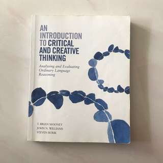 SMU Introduction To Critical And Creative Thinking Textbook