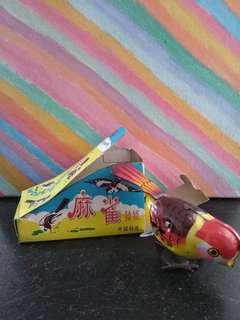 鐵皮玩具 麻雀 Tin toy sparrow