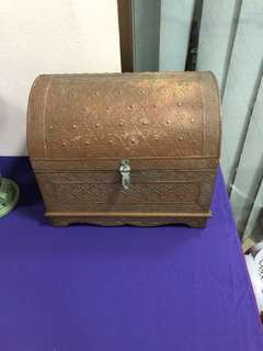 Vintage brass chest.