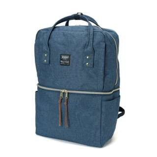 AT-C1228 Anello Double-layer multi-func backpack - Denim Blue