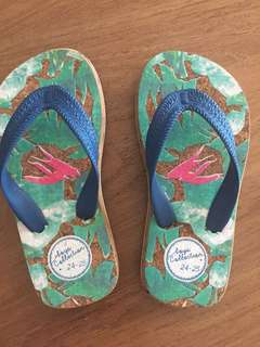 Kids flip flop size 24-25 from German Zara