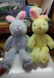 繽紛長腿兔 吊飾 夾娃娃