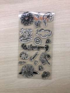 Clear Cling Stamps Love theme