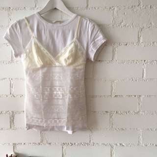 MARKS & SPENCER lace cream camisole