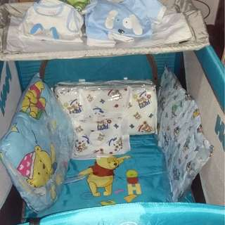 Baby Pooh Crib blue color