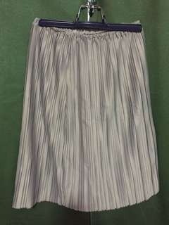 Grey pleated skirt/tube top