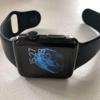 Apple watch 42mm stainless steel space black Gen 1