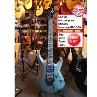 Cort X-6 BK Black X-Series Electric Guitar