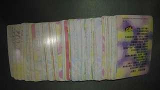 大量 90年代 明星 yes card。每張$3起, 歡迎查詢