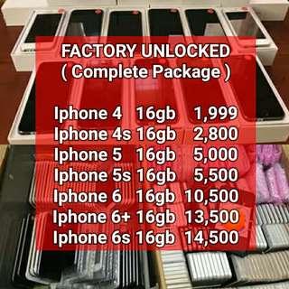 FACTORY UNLOCKED IPHONES