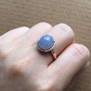 18K鑽石天然A貨紫羅蘭戒指