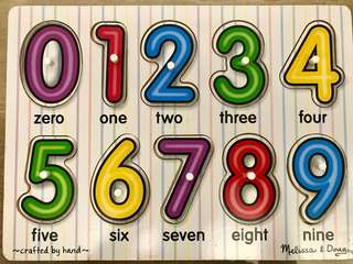 Melissa & Doug Wooden Numbers Puzzle