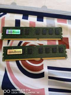 2條4G ram ddr3 desktop 打包230