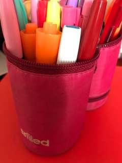 Pink Filed pen capsule