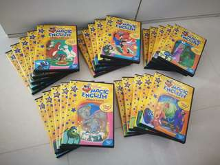 Glorier Disney Magic English 1-26 DVD and books