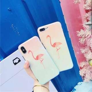 藍光火烈鳥漸變色iPhone Case