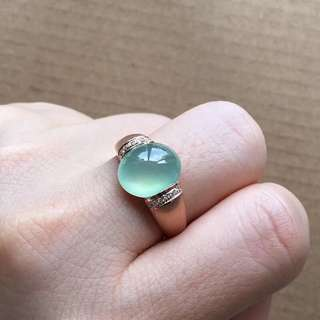 18K鑽石天然A貨晴水戒指