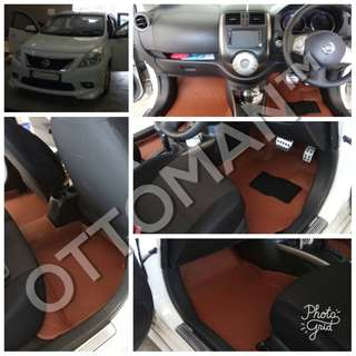 OTTOMAN PU LEATHER CAR CARPET NISSAN OWNER
