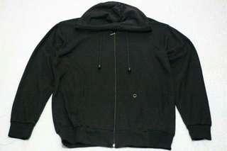 Zipper hoodie full black