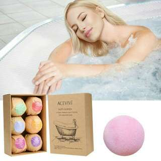 Organic Bath Bombs Rose Red Smell Of Pack Of 6 Oil Sea Salt