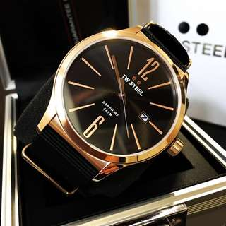 NEGOTIABLE-Brand New TW Steel Rose Gold-Black Watch