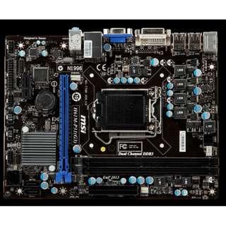 🚚 微星 H61M-P31(G3) 1155腳位整合式 主機板( 支援Core 2、3代 處理器 )支援 DDR3、附檔板