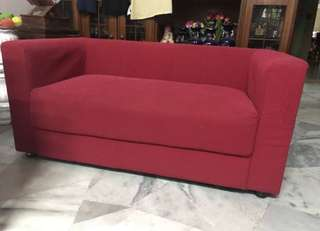 Red gorgeous sofa