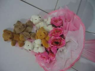 Custom Made Flower Bouquet (Fresh/Fake flowers)
