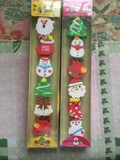 Merry Christmas 12 pcs of eraser