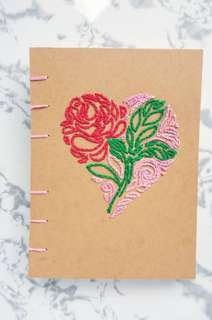 Mother's Day Embroidery Notebook